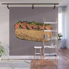 THERE'S ALWAYS TIME FOR A HOT-DOG! - LILAC Wall Mural