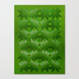 Evergreen, Snowflakes #32 Canvas Print