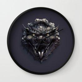 Foo Lion Dog Mask Wall Clock