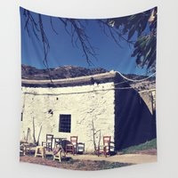 greece Wall Tapestries featuring Barn, Crete, Greece by Mr and Mrs Quirynen