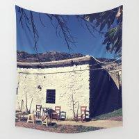 greece Wall Tapestries featuring Barn, Crete, Greece by Mr & Mrs Quirynen