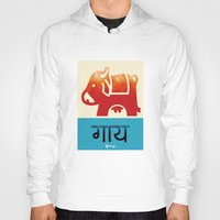cow Hoodies featuring Cow by Durga