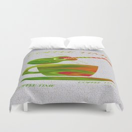 Colorful Art Coffee Time Duvet Cover