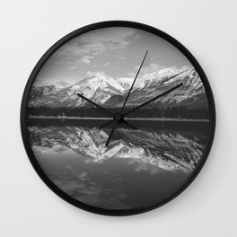 Black, White ,and Snow all over Wall Clock