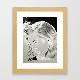Lauren Bacall Framed Art Print