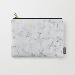 Baesic White Marble Texture Carry-All Pouch