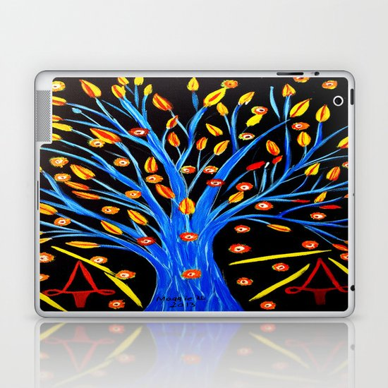Blue tree/abstract Laptop & iPad Skin