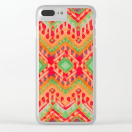 itzel - candy + lime Clear iPhone Case
