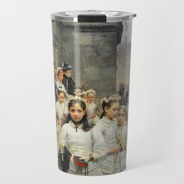 After First Communion by Carl Frithjof Smith (1892) Travel Mug