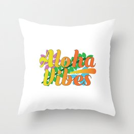 Designed for trendy, fun loving people who love Hawaiian art and love go out on a beach Aloha vibes! Throw Pillow
