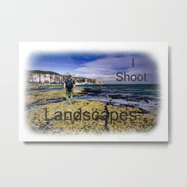 I Shoot Landscapes Metal Print