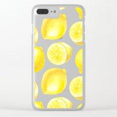 Lemons pattern design Clear iPhone Case