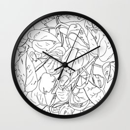 PLANT PORTRAITS - DEVIL'S IVY EPIPREMNUM AUREUM - COOPER  AND COLLEEN Wall Clock