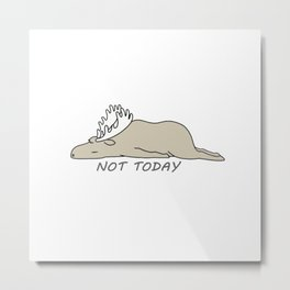 Moose lazy Metal Print