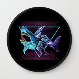 Shark 80s Wall Clock