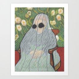 """Ghost Madame Roulin"" / Vincent Van Gogh Art Print"