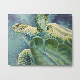 Green Sea Turtle Metal Print
