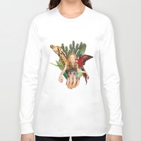 safari Long Sleeve T-shirts featuring Safari  by polina stroganova collages