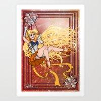 sailor venus Art Prints featuring Sailor Venus by Teo Hoble