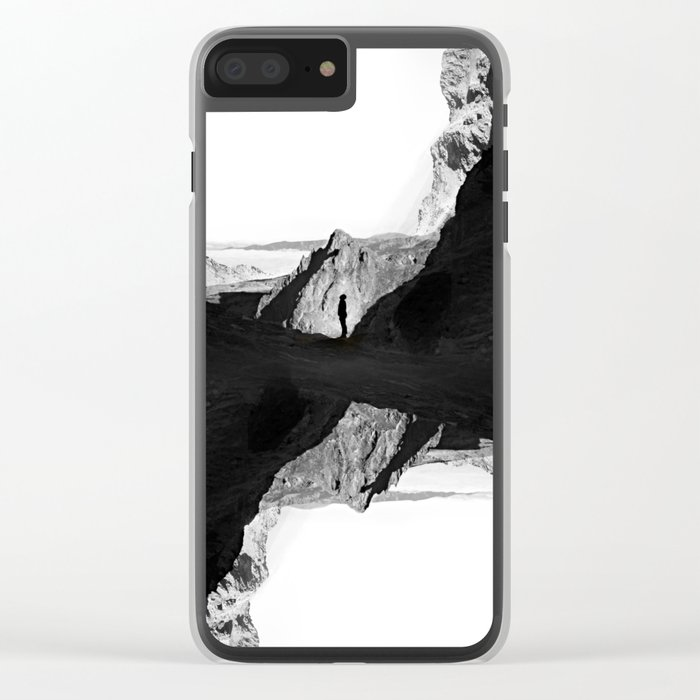 Man of isolation Clear iPhone Case