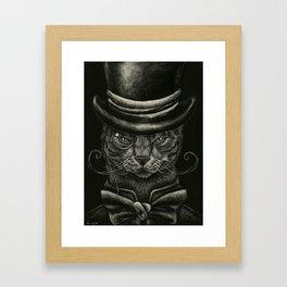 Classy Cat Framed Art Print