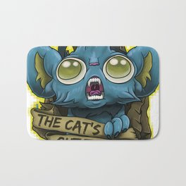 "Shinks ""The Cat's Out The Bag!"" Bath Mat"