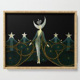 "Art Deco Design ""Queen of the Night"" Serving Tray"