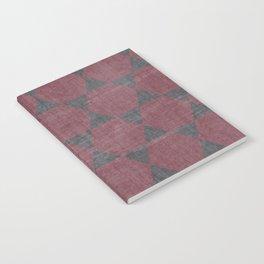 Sekskanter - red Notebook
