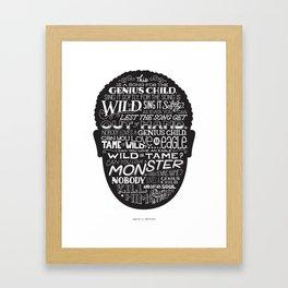 Genius Child Framed Art Print