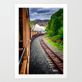 Welsh Highland Railway Snowdonia Art Print