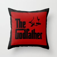 the godfather Throw Pillows featuring The Godfather by SwanniePhotoArt