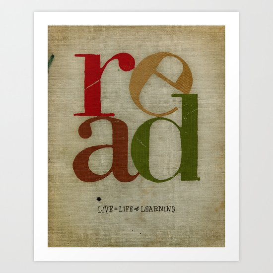read love Art Print