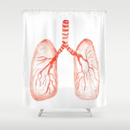Human lungs Shower Curtain