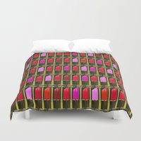 xoxo Duvet Covers featuring XOXO by RCM Prints