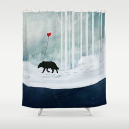 WOLF - A Love Always Carried  Shower Curtain