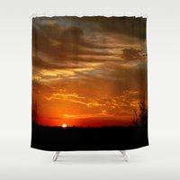 breaking Shower Curtains featuring Morning Breaking by JMcCool