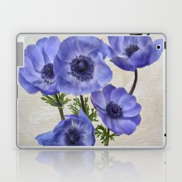 Pretty Periwinkle Poppies Laptop & iPad Skin