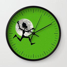 Friendly Zombie On The Go - Run Wall Clock