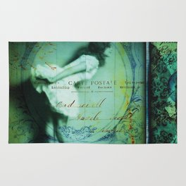 Portrait of the Ballerina's Ghost - romantic victorian art print Rug