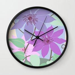 Clematis Kiss Wall Clock