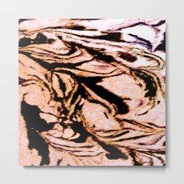 marble Caramel Metal Print