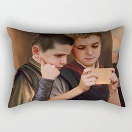 News from a war zone Rectangular Pillow