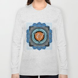 Divine Masculine Meditation Mandala Long Sleeve T-shirt