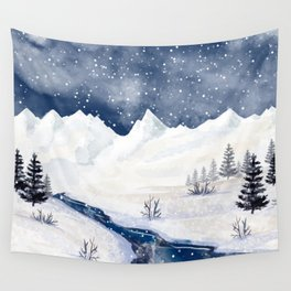 Winter Forest Wall Tapestry