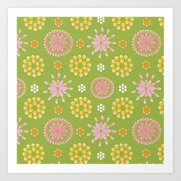 Lime Deco Art Print
