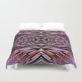 PRETTY PINK SWEEPING LINES Duvet Cover