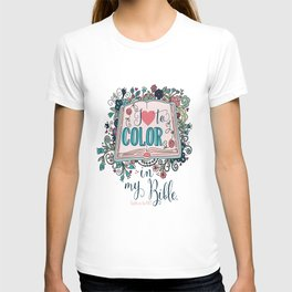 I love to color in my Bible T-shirt