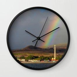 Rainbow over Lahaina Wall Clock
