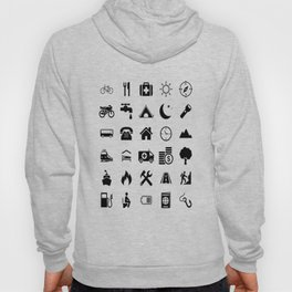 Extreme White Icon model: Traveler emoticon help for travel t-shirt Hoody