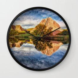 Colorful Colorado Red Rocks Reflection  Wall Clock